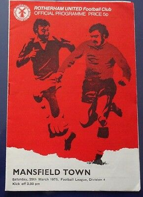Rotherham United V Mansfield Town, 29 March 1975