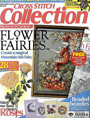 CROSS STITCH COLLECTION MAGAZINE OCT 2003 ISSUE No 96 FREE CHART FLOWER FAIRIES