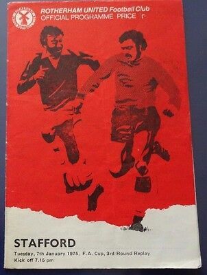 Rotherham United v Stafford, 7 January 1975, FA Cup 3rd Round Replay