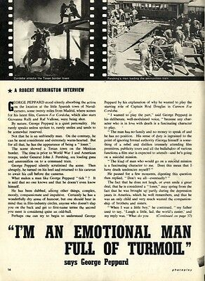 George Peppard : I'm An Emotional Man Full Of Turmoil Article & Picture(s)