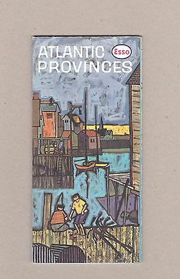 1963 Esso Atlantic Provinces Road Map. Front Cover: Peggy's Cove, Nova Scotia