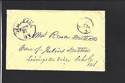 Devereaux, New York  Stampless.  Paid 3 In Circle. Herk  Dpo: 1840/57 Rare!