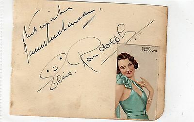 Vintage Autograph Elsie Randolph Actress Stage Theatre Signed Ink