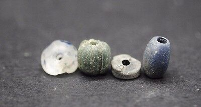 Four Ancient Romano-Egyptian Glass And Stone Beads 1St Century Ad