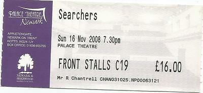 The Searchers Palace Theatre Newark 2008 Ticket Stub