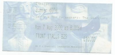 The Searchers Gerry & The Pacemakers Embassy Centre Skegness 2000 Ticket Stub