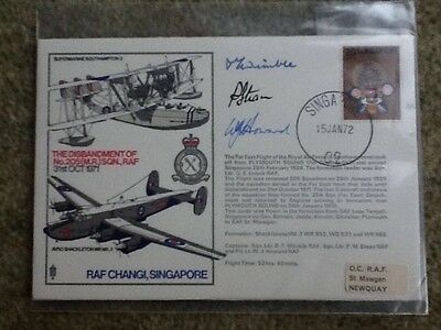Signed RAF CHANGI, SINGAPORE FIRST DAY COVER formerly 205 Squadron