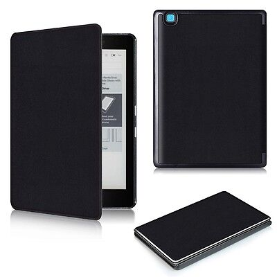 Ultra Thin Leather Case Cover with Sleep/Wake Support for Kobo Aura Edition 2
