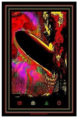 LED ZEPPELIN BLUNT ZEPPELIN MATT DYE BLUNT GRAFFIX Limited edition print GID ink