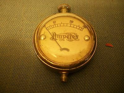 Small (1 1/4 inch) Watch Case Amperes Meter Working