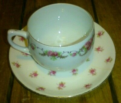 Teacup and Saucer Fine Bone China Aynsley England Pink Flowers