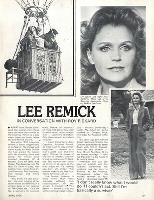 Lee Remick In Conversation Article & Picture(S)