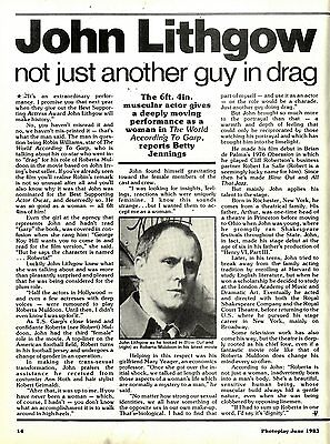 John Lithgow : Not Just Another Man In Drag Article & Picture(S)