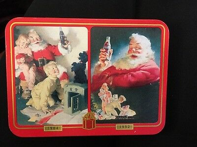 Christmas Dbl Deck Playing Cards Nostalgia 1996 Coke Coca  Santa Holidays modern