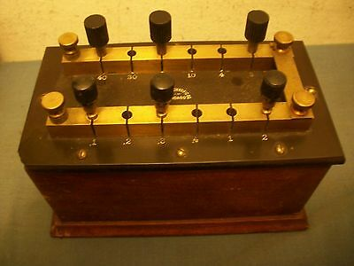 Early 1900s Central Scientific Precision Resistance Box (shorting pin type)