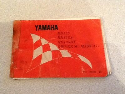 Yamaha rd 125/a rd 125dx owners manual