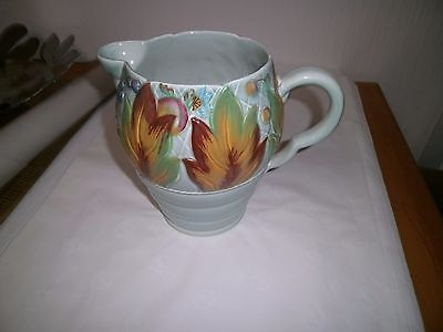 Clarice  Cliff  autumn leaves jug art deco design used