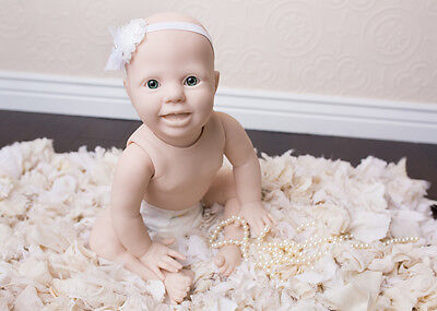 Reborn Doll Kit Amelia Crawler With Torso X  Eyes & Props Not Included