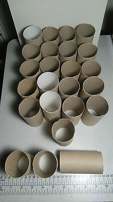24 x Cardboard tubing 4cm x 10cm, 0.2mm width of tubing, crafts making projects