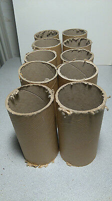 10 x Cardboard tubing 5cm x 12cm, 0.5mm width of tubing, crafts making projects