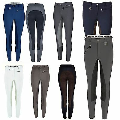 Pikeur Lugana Breeches - Contrast Comfortable Equestrian Riding Full Seat Ladies