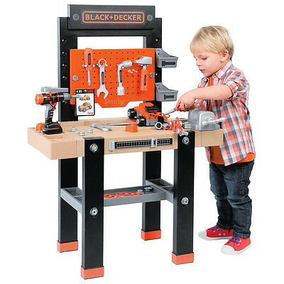 Smoby Black And Decker The Bricolo Centre Kids Toy Workbench Tool Kit Playset