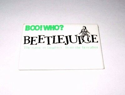 Rare 1988 Beetlejuice Movie Promo Pin - Michael Keaton Tim Burton Boo Who Button