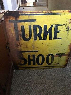 Vintage Large Turkey Shoot Sign From The Texas Panhandle