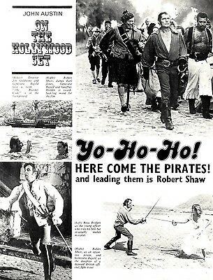 Robert Shaw On The Hollywood Set Of Swashbuckler Article & Picture(S)
