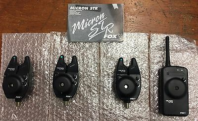 Fox Micron STR Bite Alarms Set of 3 Fishing £195 (AL9) Free P&P