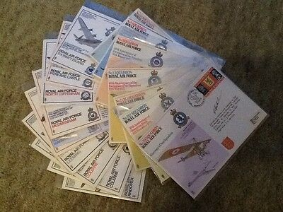 COLLECTION OF 17 RAF FIRST DAY COVERS - two signed