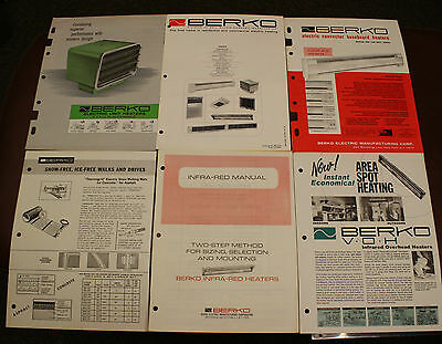 Berko Commercial Heating Heaters CATALOGS 1964-65 Atomic Age Infrared Baseboard