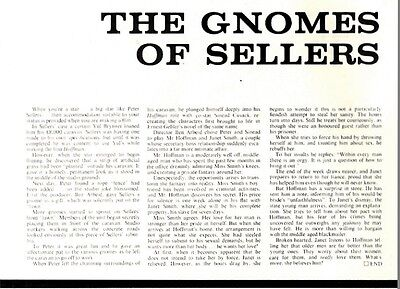 The Gnomes Of Peter Sellers Article & Picture(S)