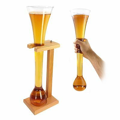 Tuff-Luv Personalised Half Yard Of Beer / Lager Ale With with Stand (Gift) Glass