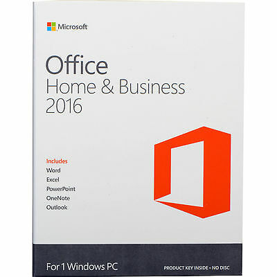 Microsoft Office Home and Business 2016 Orginal Vollversion 32/64bit kein Abo 1
