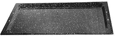 2 Stück GN 2/3 325x354 mm Blech  40 mm Granit emailliert emaille Granit-Emaile