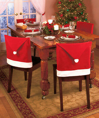 Santa Hat Chair Covers Christmas Decorations Dinner Chair Xmas Cap Sets CLUK
