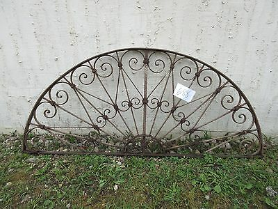 Antique Victorian Iron Gate Window Garden Fence Architectural Salvage Door #688
