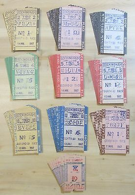 """Rockingham Park"" Salem NH 1967..Horse Racing ""tote"" betting tickets collection"
