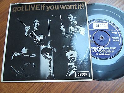 The Rolling Stones - Got Live If You Want It! Ep - Mono Decca Dfe 8620 / 1965 Ex