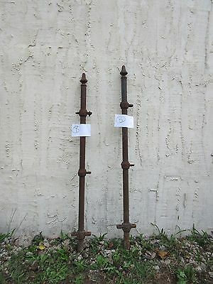 Pair Antique Hair Pin Iron Gate Fence Post Fencing Architechural Salvage B