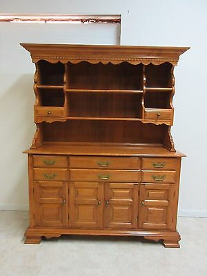 Vintage Maple Conant Ball China Cabinet Hutch Breakfront Display
