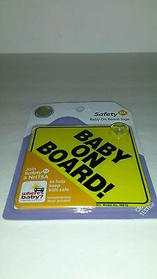 Safety 1st Baby On Board Sign  48918 Brand New