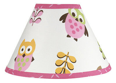 Sweet Jojo Designs Lamp Shade for Nature Pink Happy Owl Baby Kids Teens Bedding