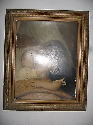 antique gold and gesso picture frame