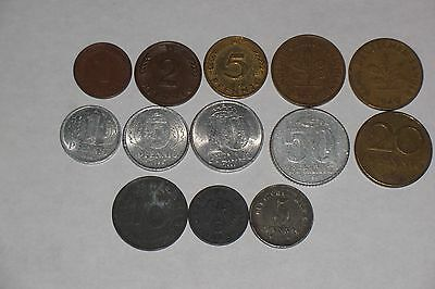 Germany History 13 different coins dtd 1918-1988  #564