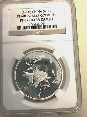 China 1990 Silver Goldfish Set  NGC   66,67,67,68 all Ultra Cameo  seldom listed