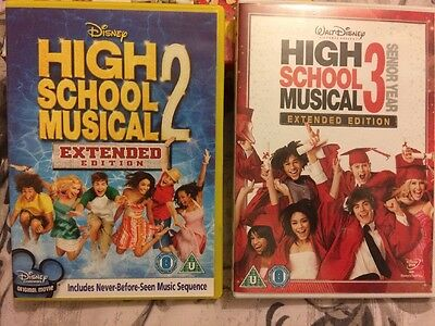 Disney High School Musical DVD. 2 & 3