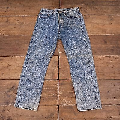 Mens USA MADE! 90's Levis Vintage 501 Red Tab Blue Jeans Size 32 x 30 R4276