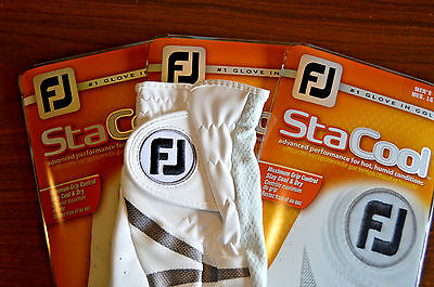 New FootJoy StaCool Golf Gloves - 3 Pack - Medium Large